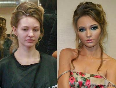 modelo sin maquillaje