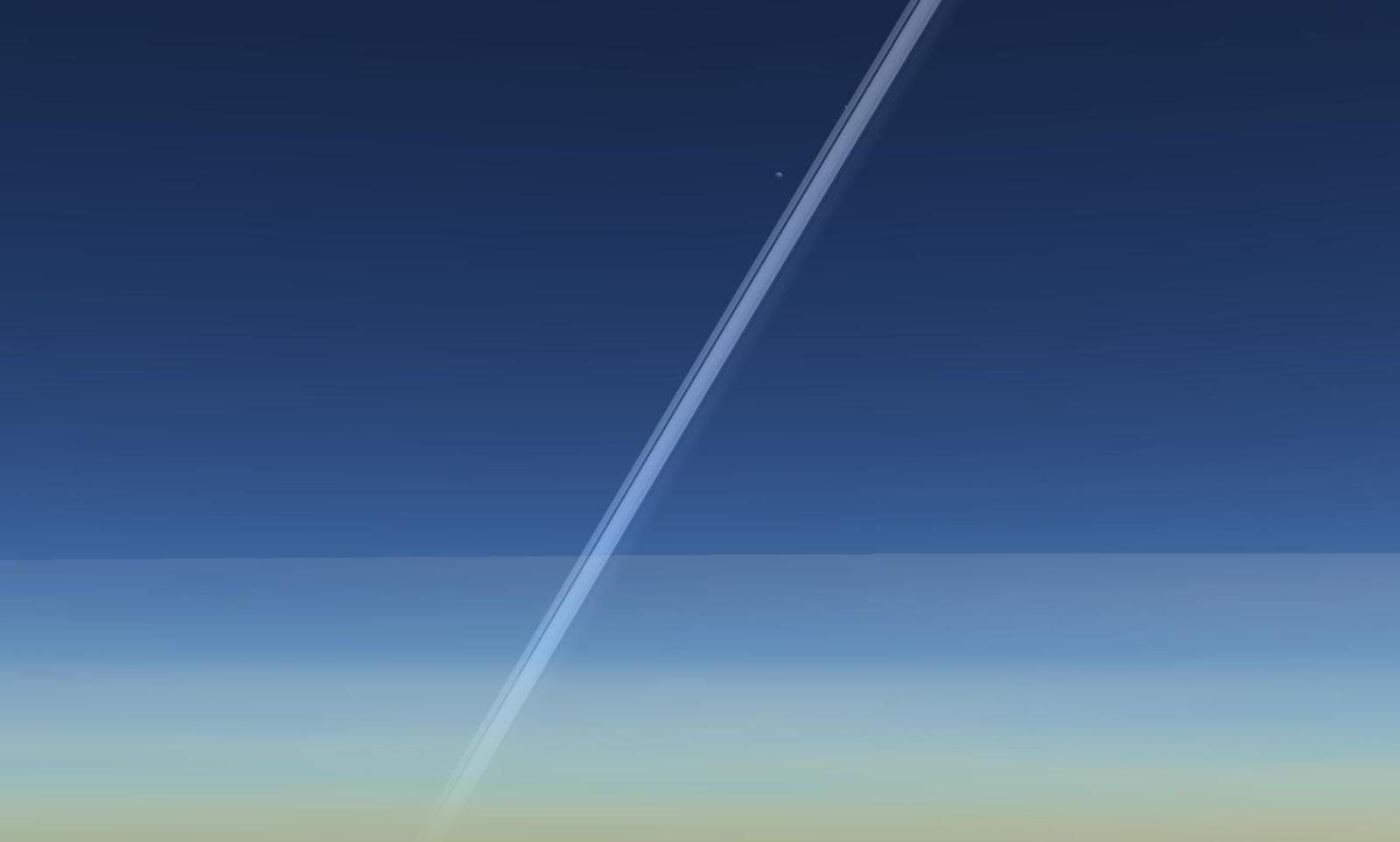 Vành đai của hành tinh Thổ và vệ tinh Prometheus của nó. Tác giả : John Brady ở Astronomy Central trên mạng xã hội Reddit.