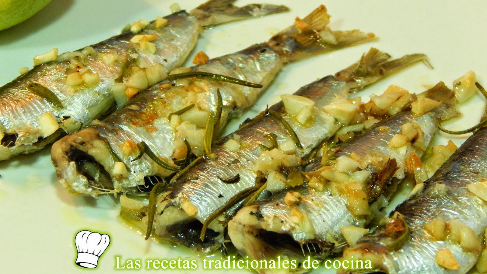 sardinas al horno con ajo y romero