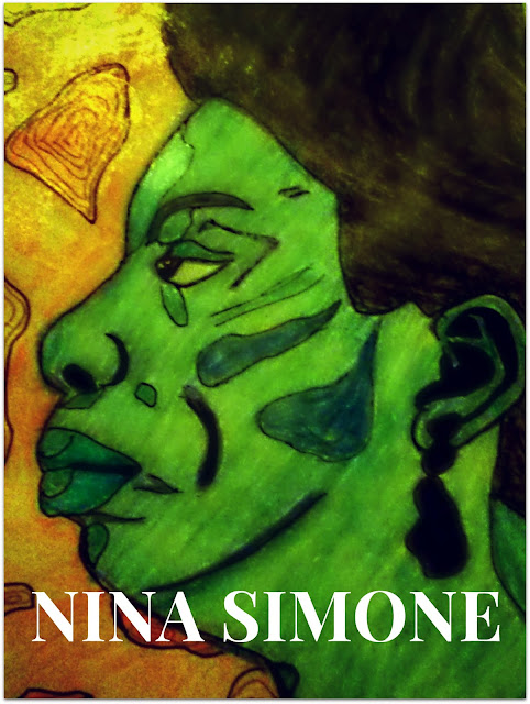 Nina Simone artist sketch in color