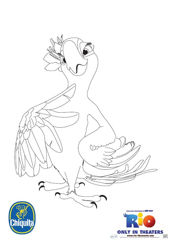 Rio 2 Coloring Pages Pdf : Coloring activity pages jewel from quot rio page