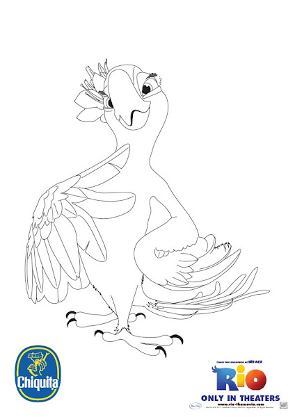 Jewel From Rio Coloring Pages