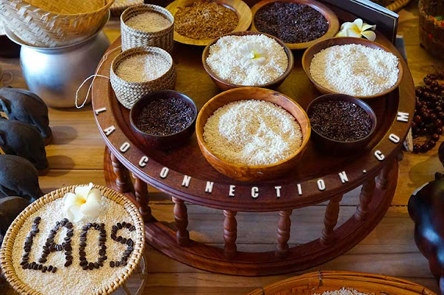 Examples of (raw) rice varieties found in Laos.