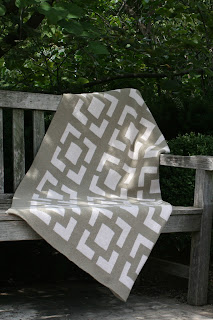 Recycled Cotton Square Chain Pattern Eco Throw