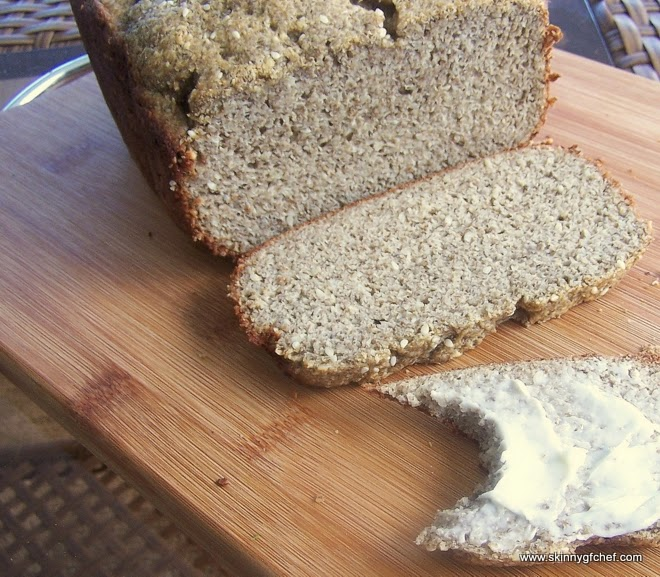 Grain Free Sesame Chia Bread in the Bread Machine, gluten free, my best tasting bread so far!