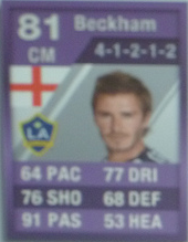 Purple David Beckham 81 - FIFA 12 Ultimate Team Card