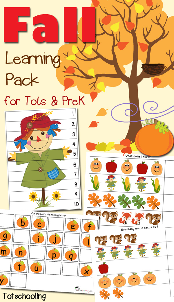 Fall Learning Pack for Tots & Prek