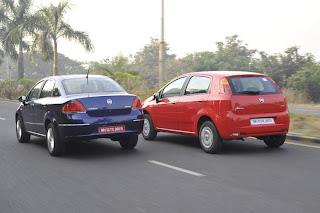 New Fiat Linea and Grande Punto side view