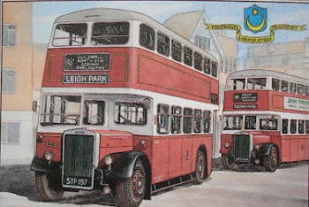 Post Card of Portsmouth Buses