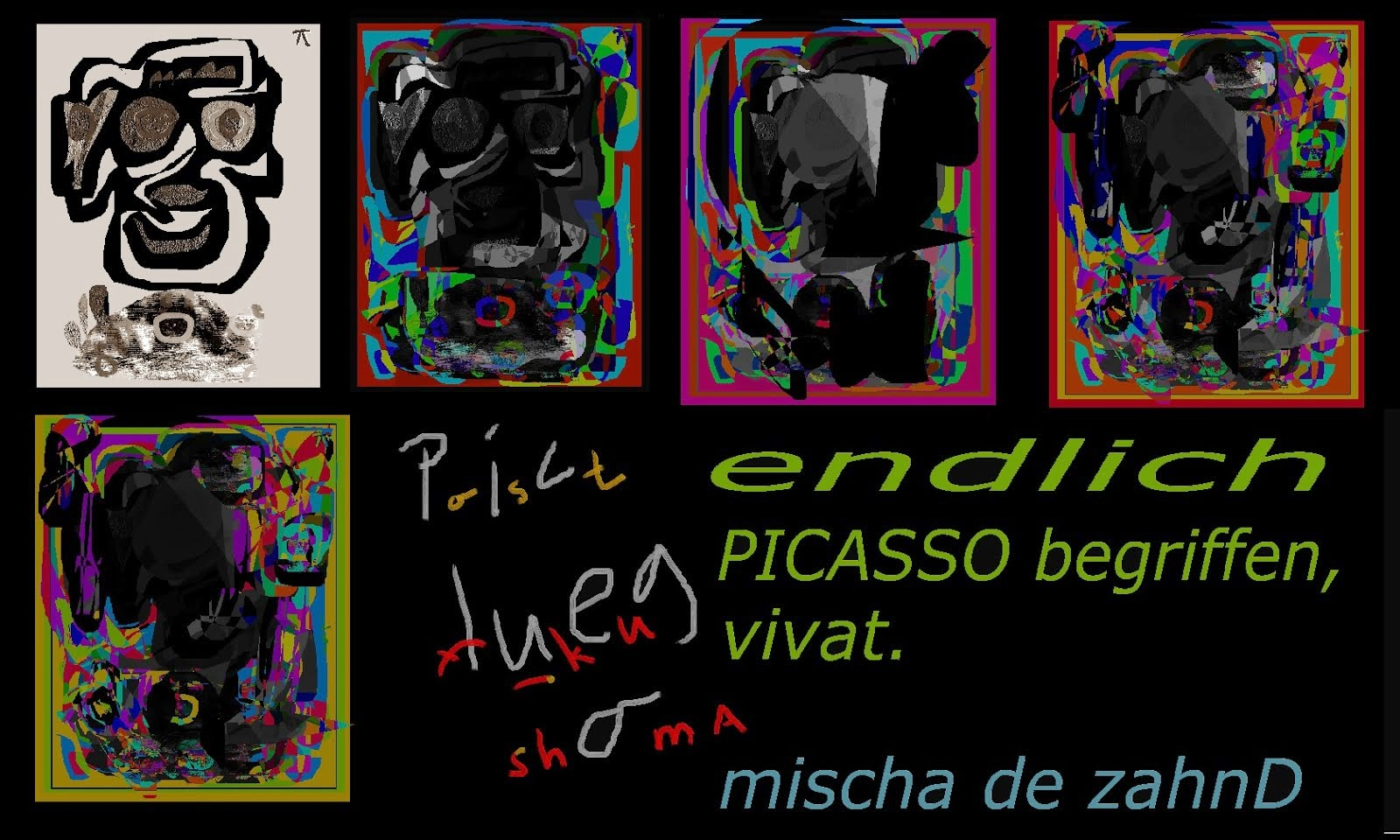 PICASSO post fukushima seen by mischa vetere 2014 - mvart5u THE NEW VISION
