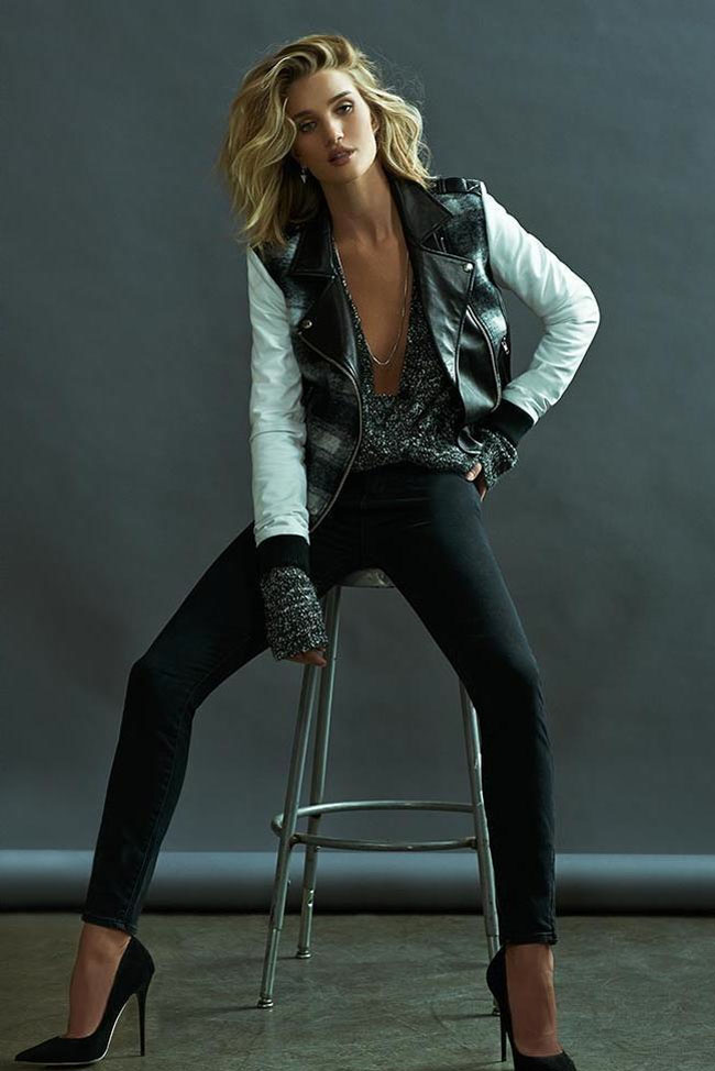 rosie huntington whiteley paige denim fall 2015 ad collection black skinny jeans gorgeous