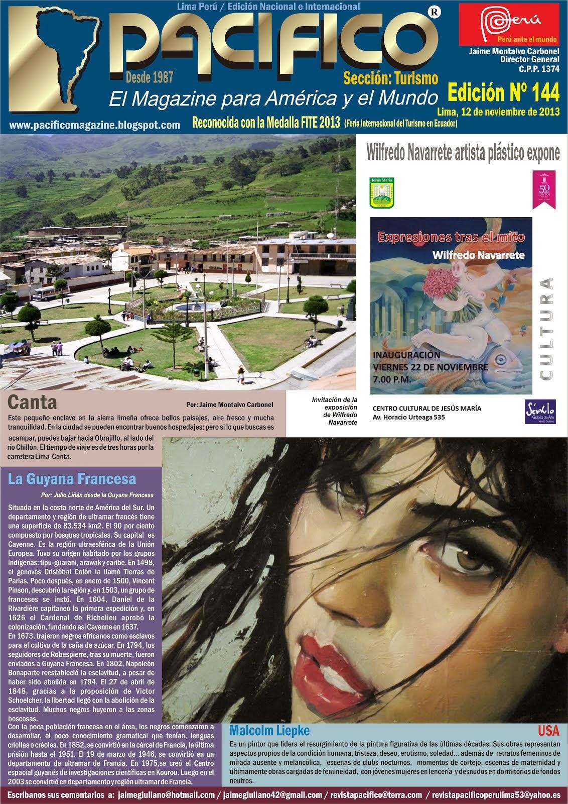 Revista Pacífico Nº 144 Turismo