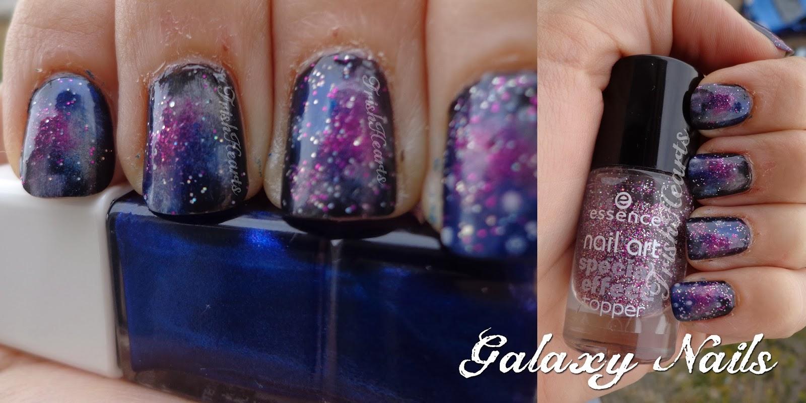 TrishHearts: ℘ Manicure Monday - Galaxy Nails