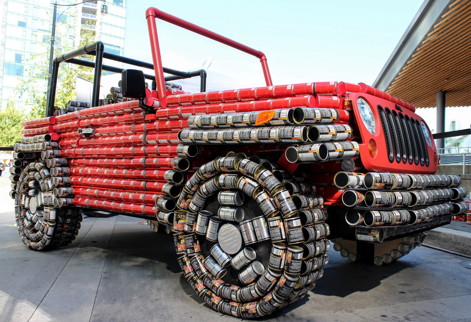 Koenigsegg Ccxr Trevita >> This Jeep Wrangler Is Made Almost Entirely Out Of Food Cans | Carscoops