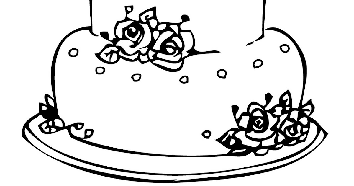 The Wedding Cakes Coloring Sheet For Drawing By Kids