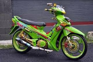 Honda supra X hijau