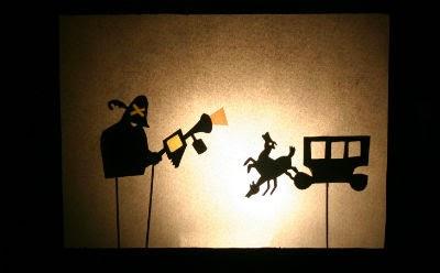 Teatre d'ombres llibre infantil Els tres bandits