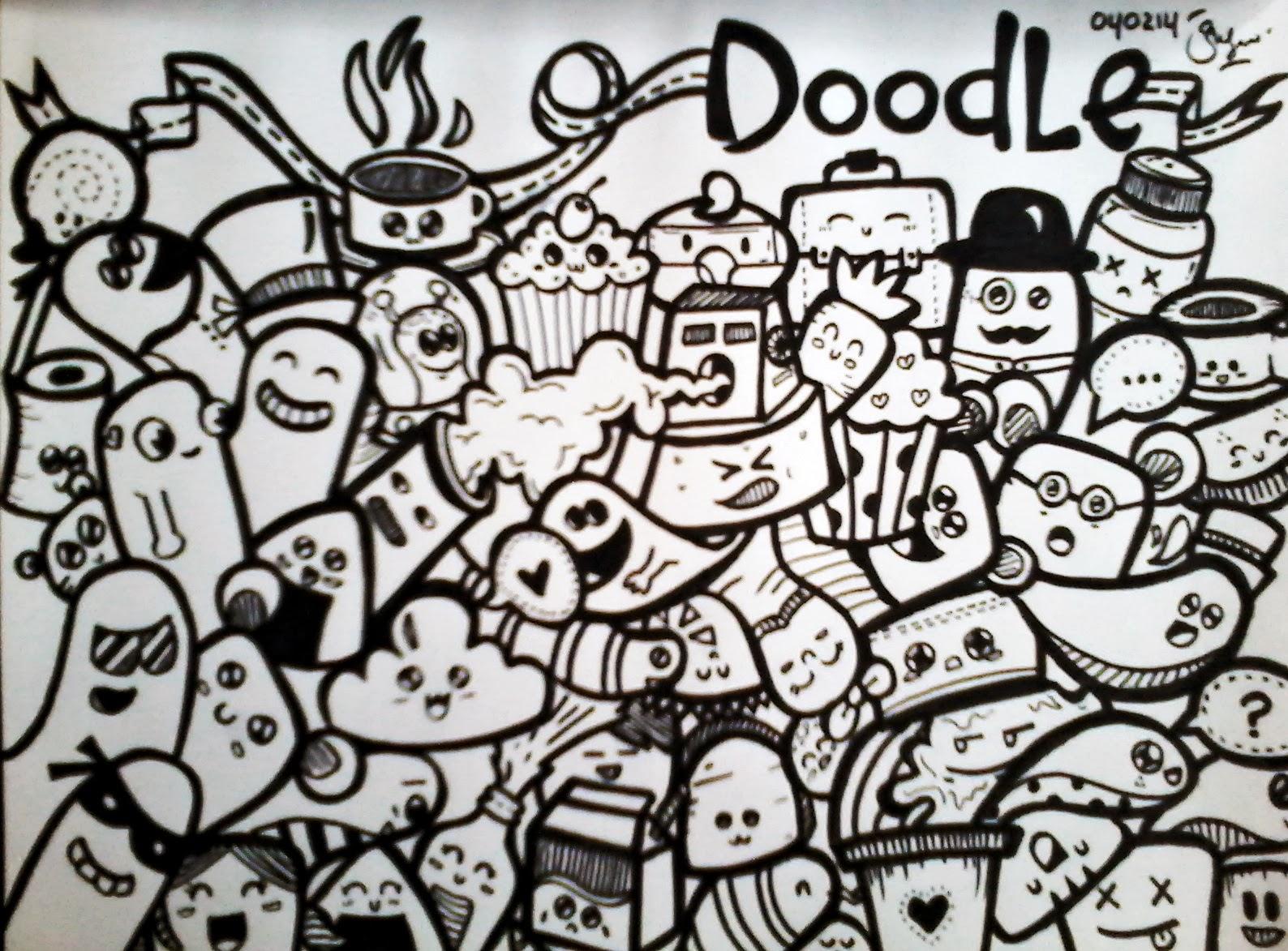 Life Is Never Flat Doodle Art