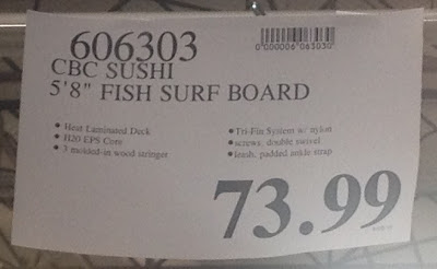 Deal for the California Board Company CBC 5.8 Sushi Soft Surboard at Costco