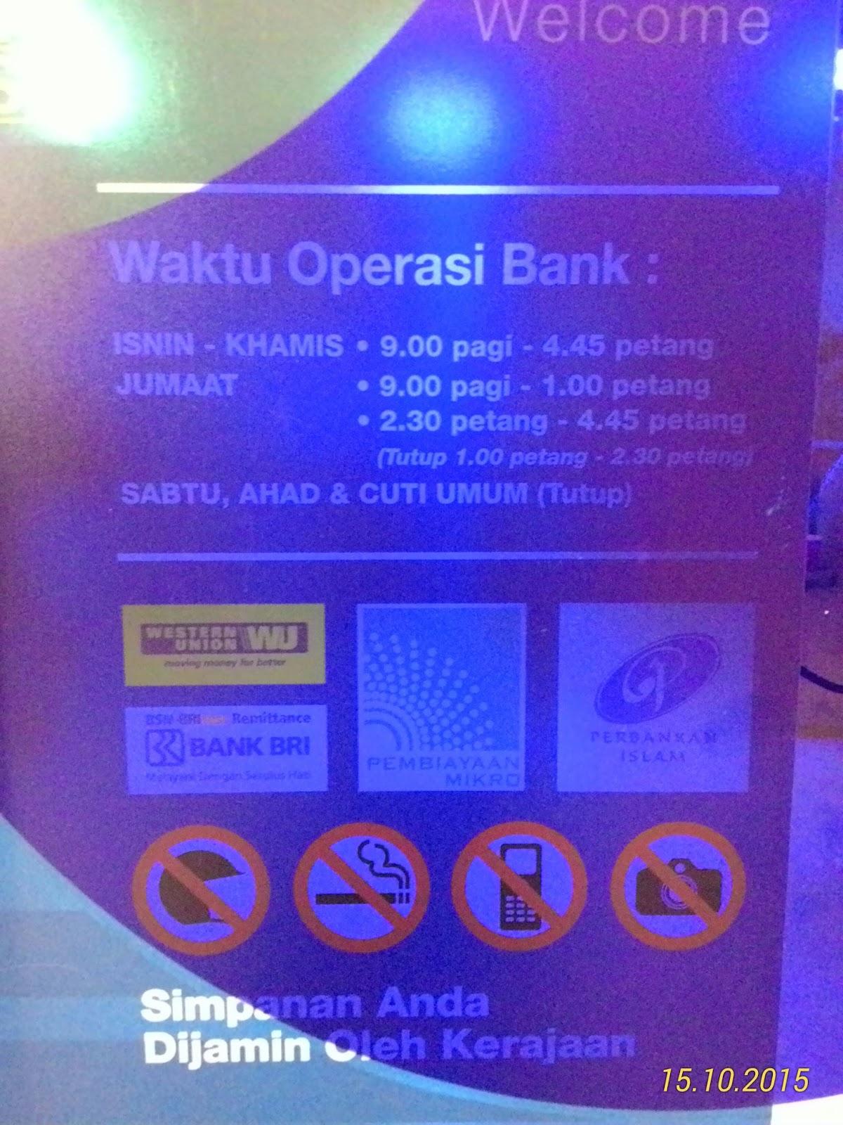 Waktu Operasi Bank Tak Sama Dengan Operasi Mesin Layan Diri Senangeja Com