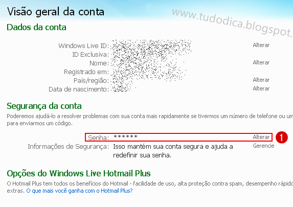 Tutorial mudar senha do Windows Live Messenger