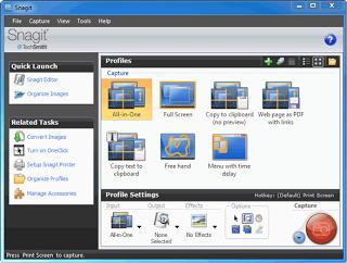 software untuk meng capture gambar yang ada di desktop