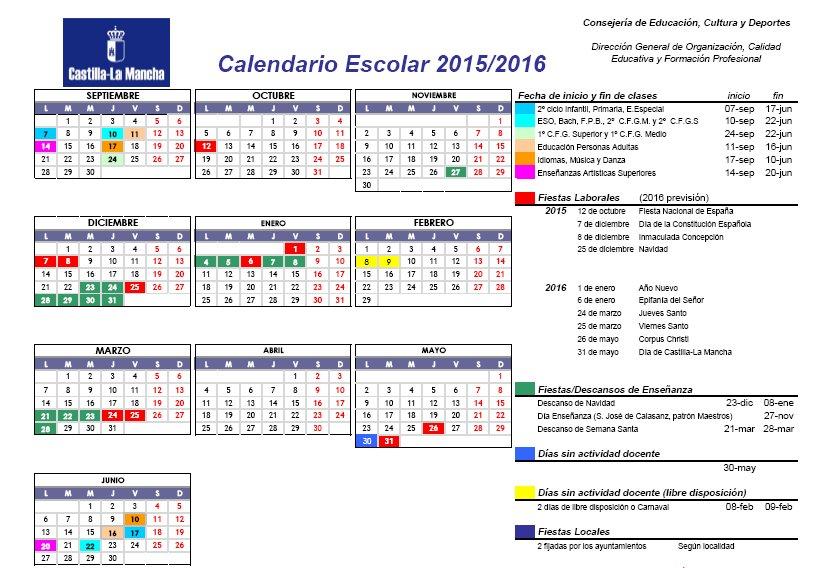 Calendrier  2015-16