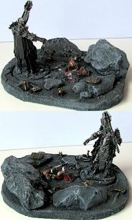 diorama władca pierścieni sauron