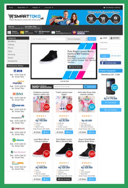 Theme toko online premium