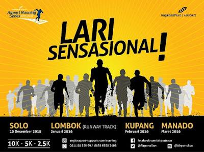 Angkasa Pura Airport Running Series 1 Solo, lomba lari di bandara adi soemarmo
