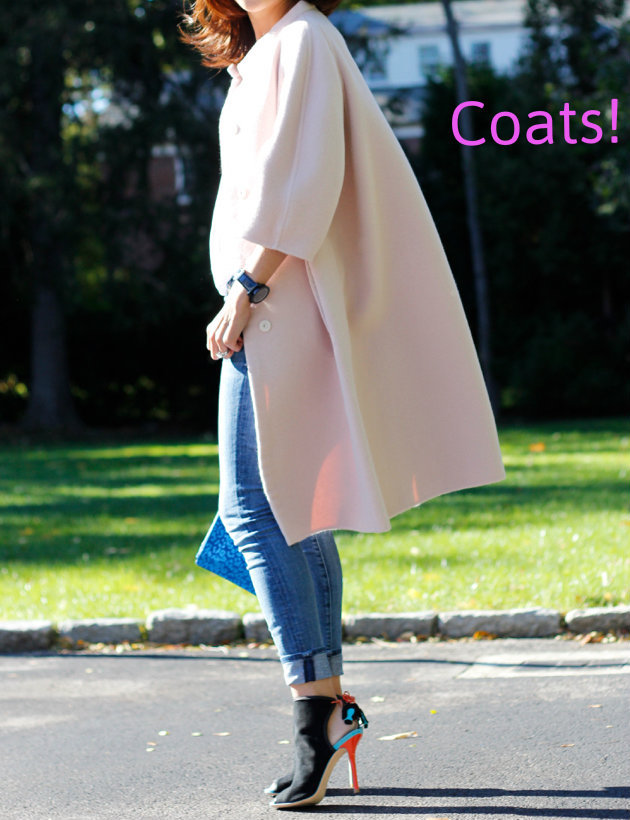 Pink Jil Sander coat