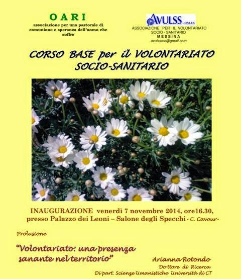 CORSO DI FORMAZIONE VOLONTARIATO SOCIO-SANITARIO