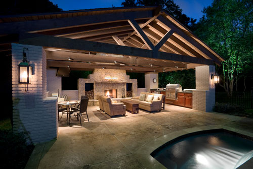 Outdoor kitchens outdoor kitchens designs home design idea for Covered outdoor kitchen plans