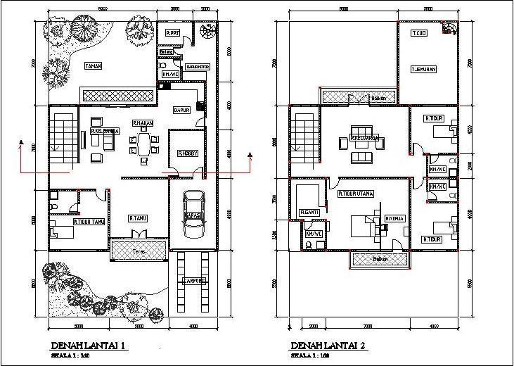 contoh gambar rumah 2 lantai minimalis