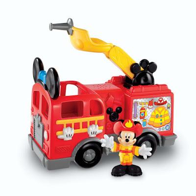 TOYS : JUGUETES - Fisher Price  Mickey Mouse ClubHouse | La Casa de Mickey Mouse  Camión de Bomberos | Fire Truck  Producto Oficial Serie Televisión | Disney - Mattel   A partir de 2 años  Comprar en Amazon España & buy Amazon USA
