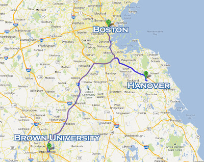 Boston, Hanover, Brown University