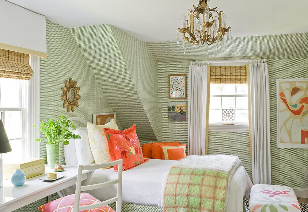 Jll design march 2013 for Orange and green bedroom designs