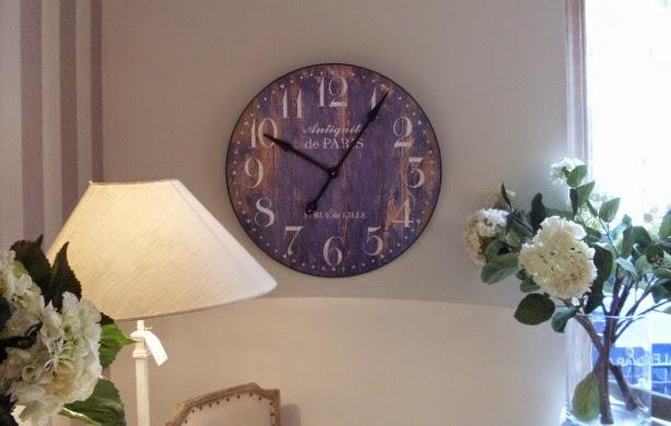 Un toque vintage decorar con relojes de estilo vintage for Reloj pared estilo industrial