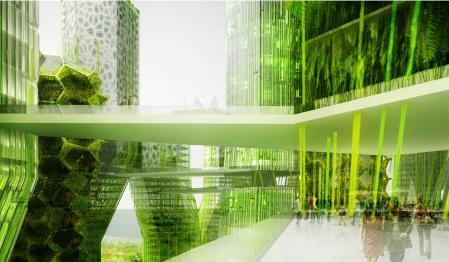 Verre v g tal symbio2 project for Architecture et nature