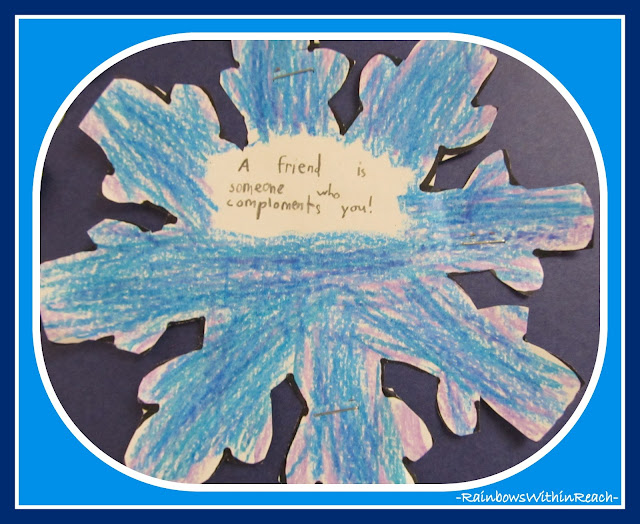 photo of: Written Snowflake on Friendship via RainbowsWithinReach