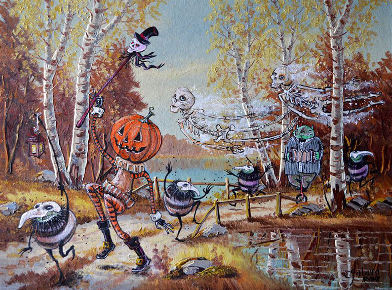David Irvine sigue pintando más personajes al azar en viejas pinturas de tienda de segunda mano