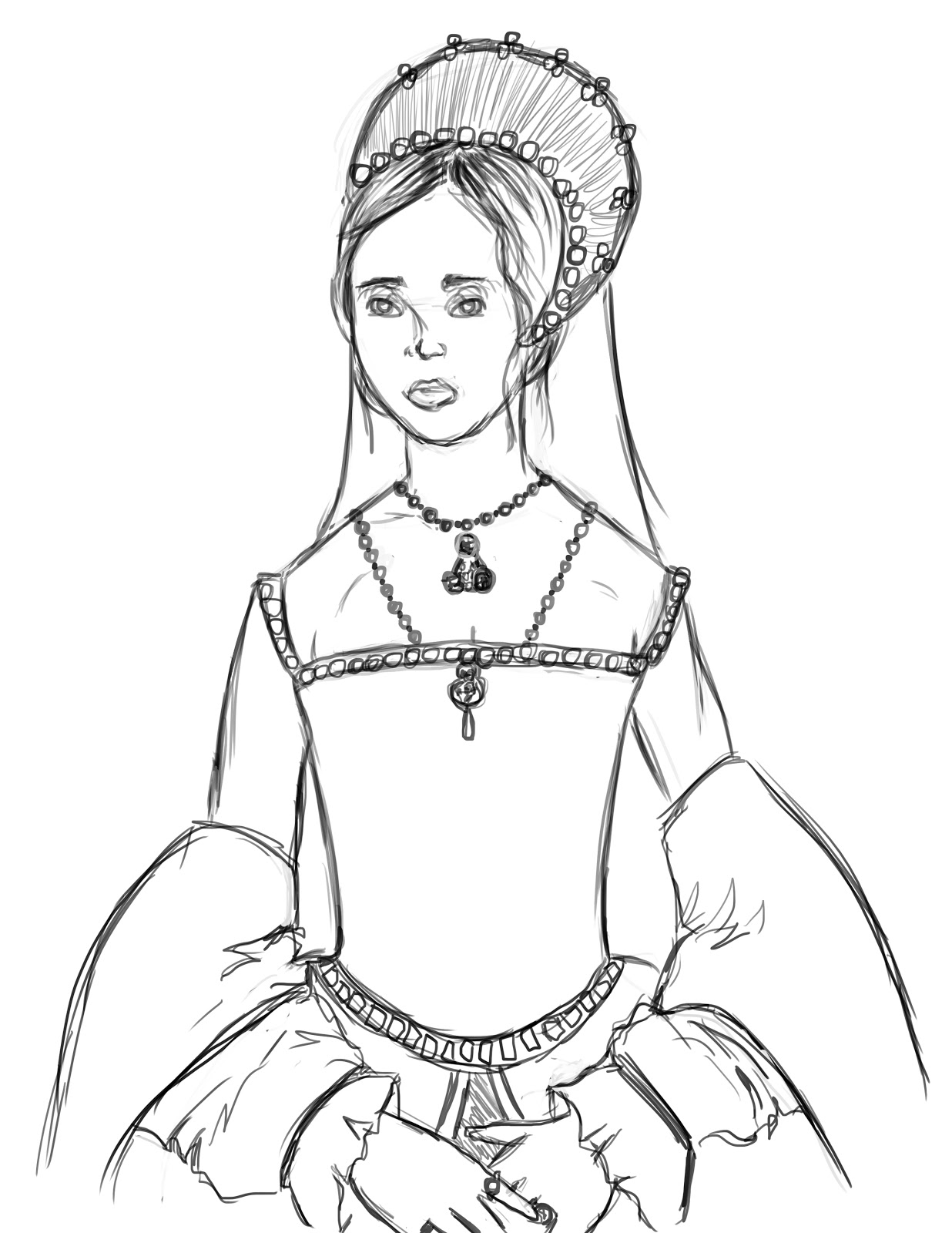 Queen mary i of england the sketch