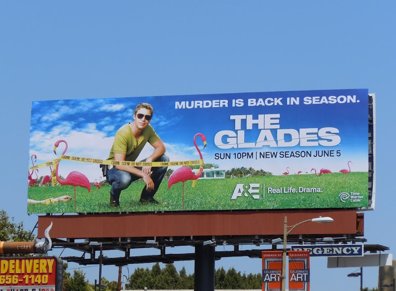 The Glades season 2 TV billboard