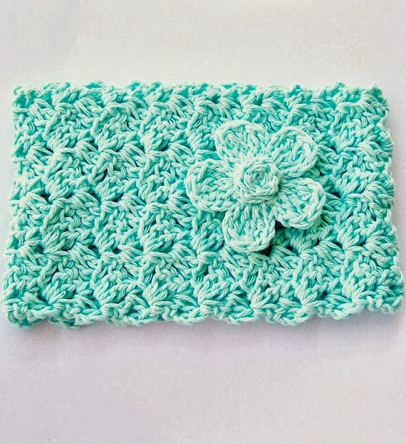 Crochet Wide Headband With Flower Free Pattern : Flower Girl Cottage : Crochet Headband Pattern