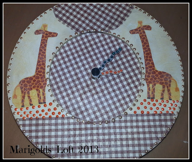 giraffe clock handmade