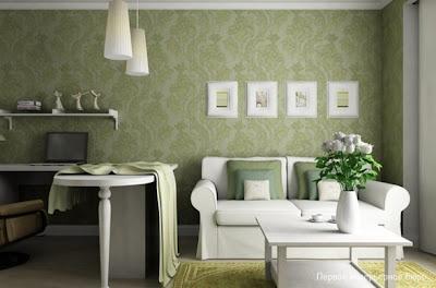 sala en color verde