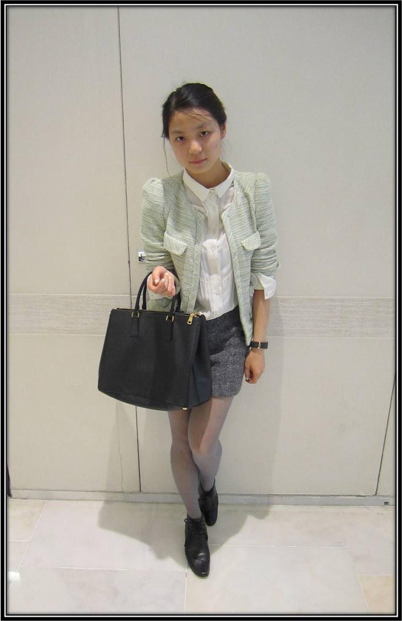 Style de la semaine sac Prada cuir noir, combishort Kookai, veste Zara ThatsMee