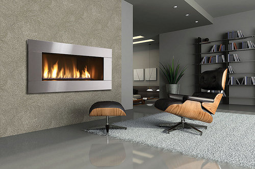 Modern wall fireplace design architectural home designs for Modern gas fireplace price