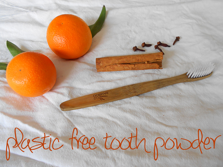Home made plastic free toothpowder