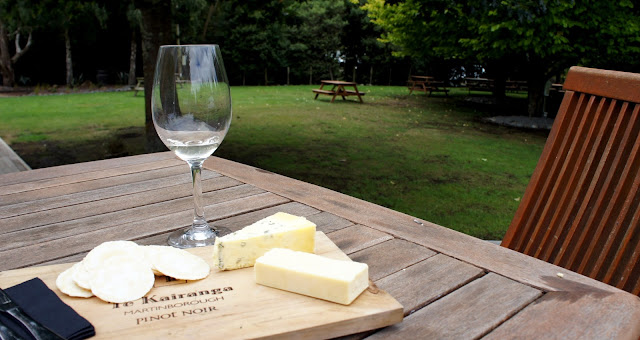 Wine and cheese in the sun at Te Kairanga - Martinborough